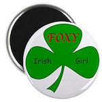 """Foxy Irish Girl 2.25"""" Magnet (10 pack)"""