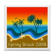 Spring Break Sunset 2008 Tile Coaster