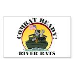 TF116 River Rats Rectangle Sticker