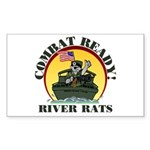 TF116 River Rats Rectangle Sticker
