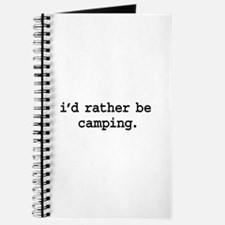 i'd rather be camping. Journal