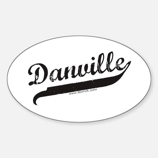Danville Oval Decal