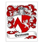 Bertram Family Crest Small Poster