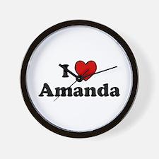 I Heart Amanda Wall Clock