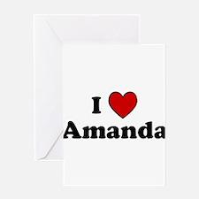 I Heart Amanda Greeting Card