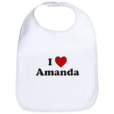 I Heart Amanda Bib