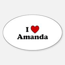 I Heart Amanda Oval Decal