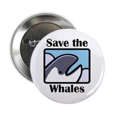 "Save the Whales 2.25"" Button"