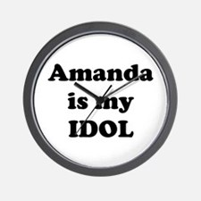 Amanda is my IDOL Wall Clock