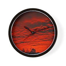 Delta Fiery Sunrise Wall Clock