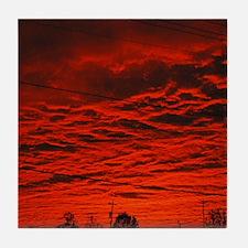 Delta Fiery Sunrise Tile Coaster