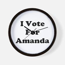 I Vote For Amanda Wall Clock