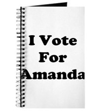 I Vote For Amanda Journal