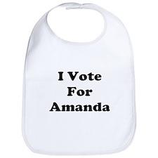 I Vote For Amanda Bib