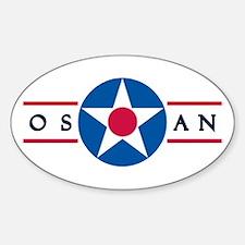 Osan Air Base Oval Decal
