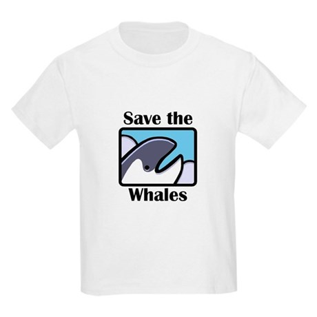 Save the Whales Kids Light T-Shirt