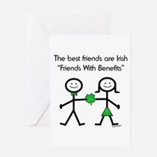 Irish Friends With Benefits Greeting Card