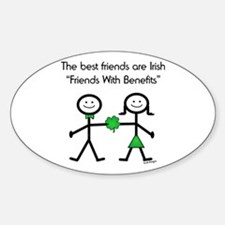 Irish Friends With Benefits Oval Decal