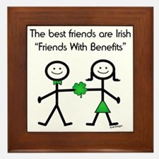 Irish Friends With Benefits Framed Tile