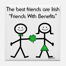 Irish Friends With Benefits Tile Coaster