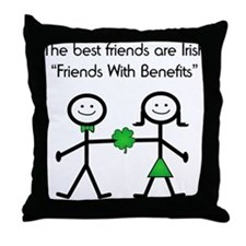 Irish Friends With Benefits Throw Pillow