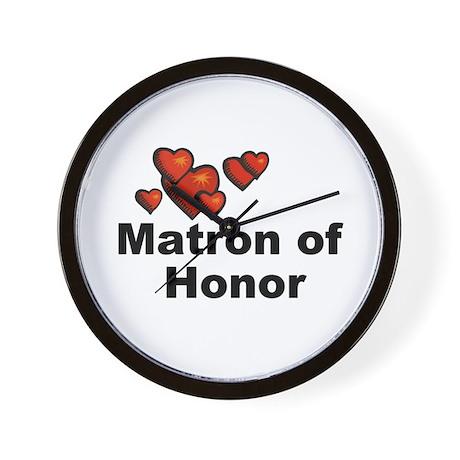 Hearts Matron of Honor Wall Clock
