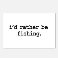 i'd rather be fishing. Postcards (Package of 8)