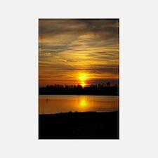 Delta Amber Sunset Rectangle Magnet