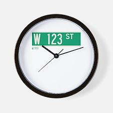 123rd Street in NY Wall Clock