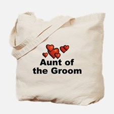 Hearts Aunt of the Groom Tote Bag