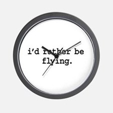i'd rather be flying. Wall Clock