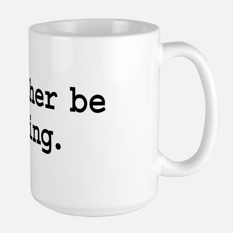 i'd rather be flying. Large Mug