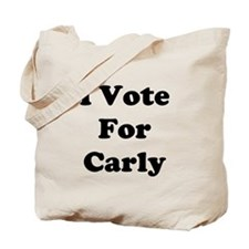 I Vote For Carly Tote Bag