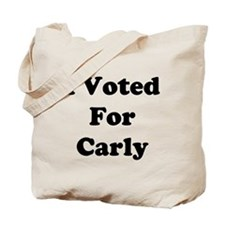 I Voted For Carly Tote Bag