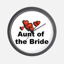 Hearts Aunt of the Bride Wall Clock