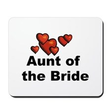 Hearts Aunt of the Bride Mousepad