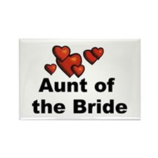 Hearts Aunt of the Bride Rectangle Magnet