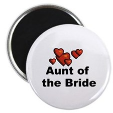 Hearts Aunt of the Bride Magnet