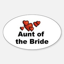 Hearts Aunt of the Bride Oval Decal