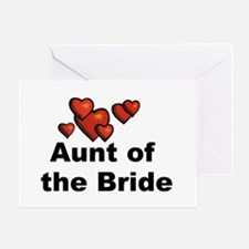 Hearts Aunt of the Bride Greeting Card
