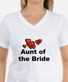 Hearts Aunt of the Bride Shirt