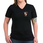 Winchester Tavern Women's V-Neck Dark T-Shirt