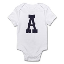 Denim western monogram (any l Infant Bodysuit