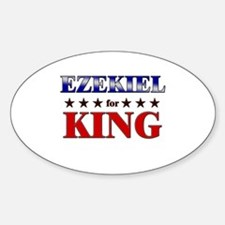EZEKIEL for king Oval Decal