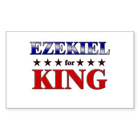 EZEKIEL for king Rectangle Sticker
