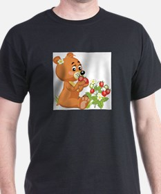 TEDDY IN STRAWBERRY FIELD T-Shirt