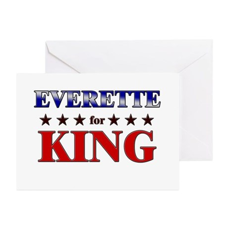 EVERETTE for king Greeting Cards (Pk of 10)