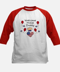 Welcome Home Daddy - Girl Kids Baseball Jersey