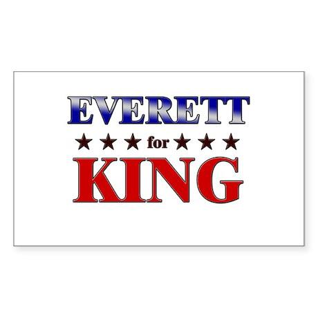 EVERETT for king Rectangle Sticker
