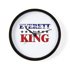 EVERETT for king Wall Clock